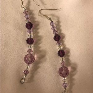 💕 Purple Swarovski Crystal Earrings